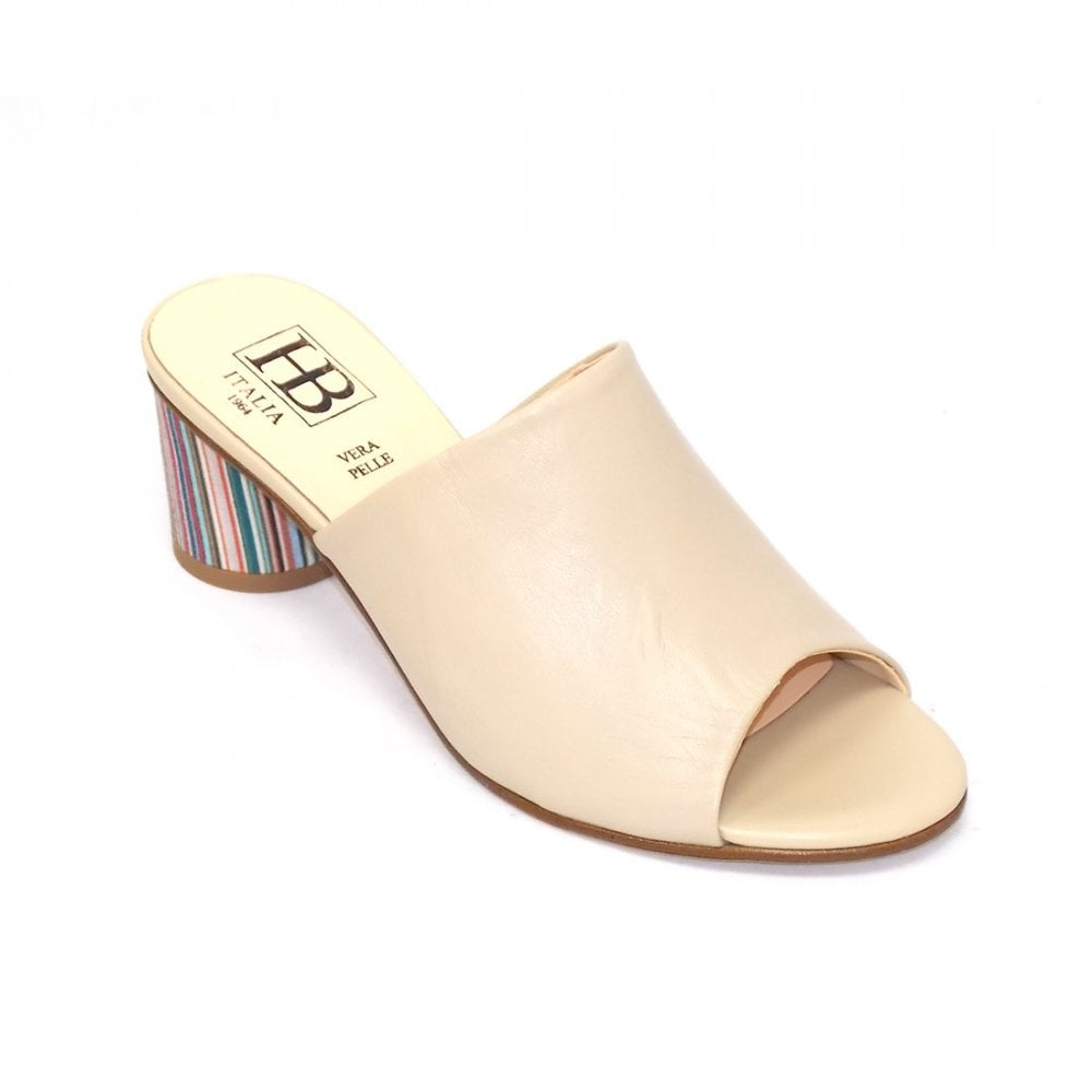 daded5b683d Sabrina Leather upper contrasting striped round heel