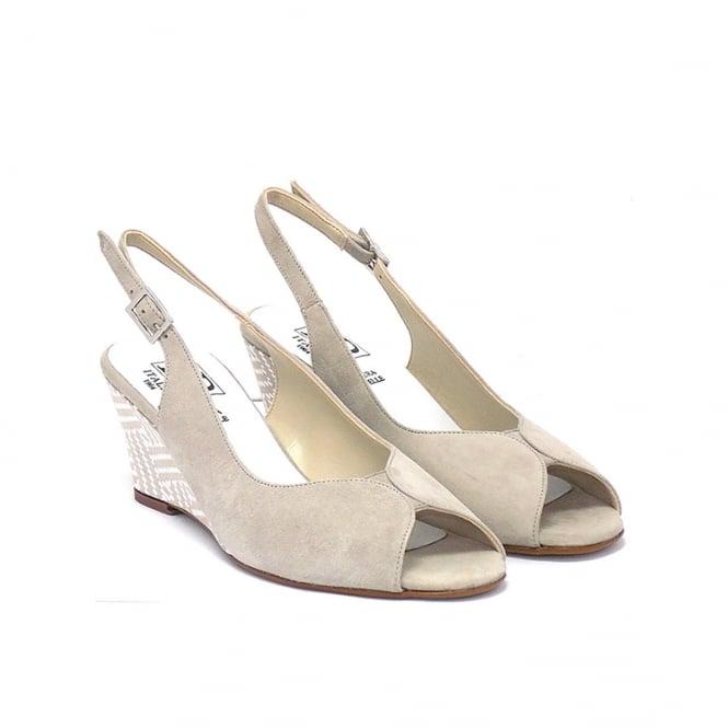 c44b46bb238 Saffron suede with contrasting wedge heel